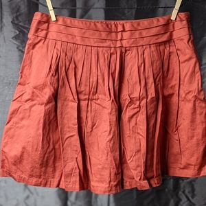 The Limited Red Skirt Size 8 100% Cotton, Lined